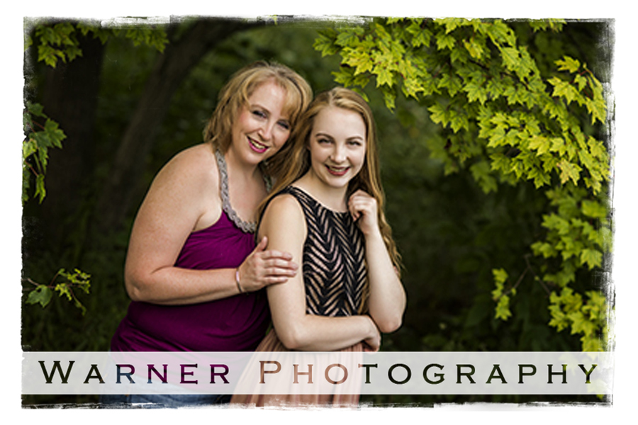 Jennifer and Angelica Dow Garden's photo by Warner Photography in Midland Michigan