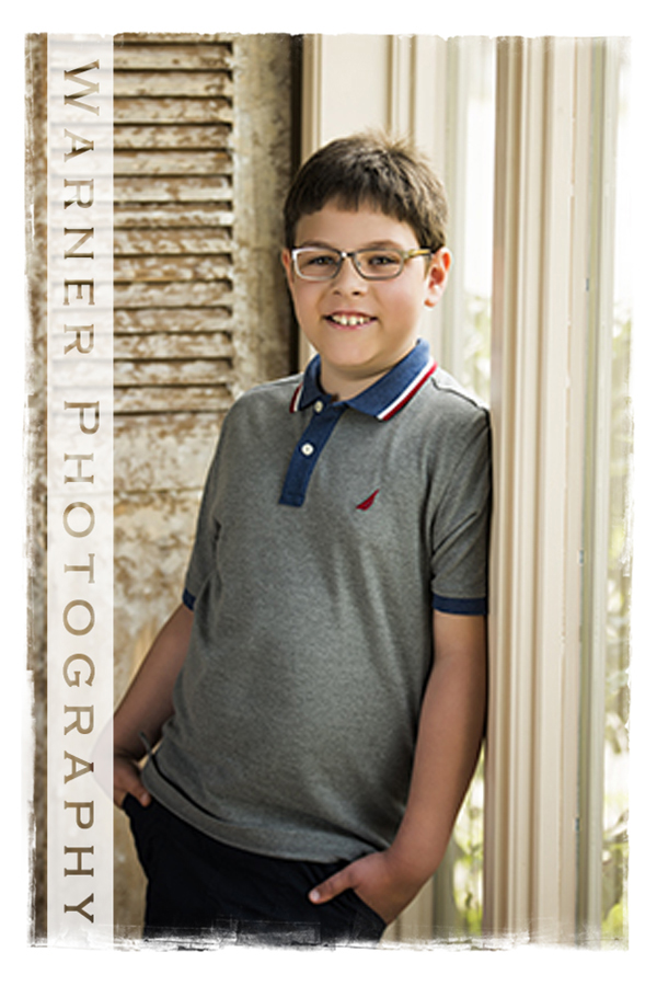 Ethan Back to School photo by Warner Photography in Midland Michigan