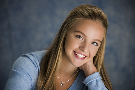 Hailey Back to School photo by Warner Photography in Midland Michigan