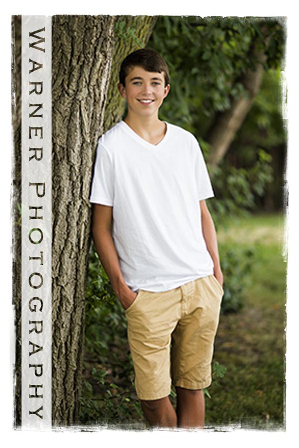 Luke Senior Photo by Warner Photography in Midland Michigan