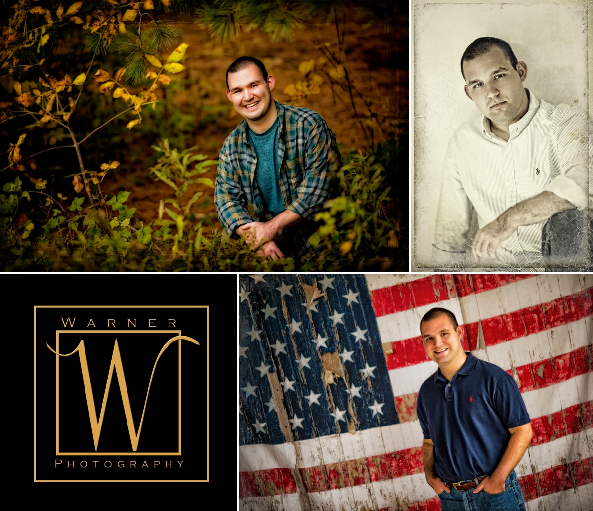 Andrew Senior Collage by Warner Photography in Midland Michigan