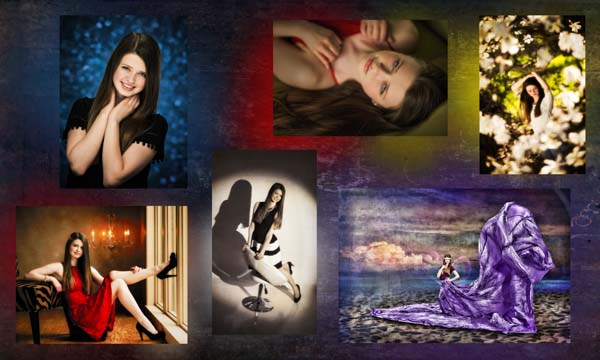 Chloe Senior Competition Collage photo by Warner Photography in Midland michgian