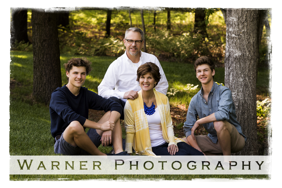 Brueck Family photo by Warner Photography in Midland Michigan