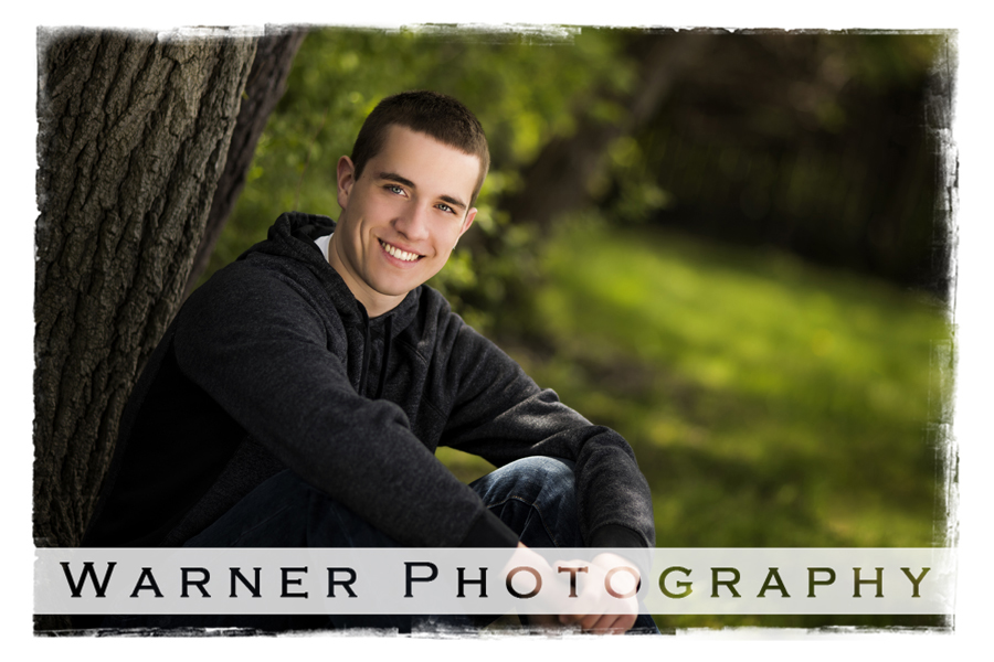 David Midland High Senior photo by Warner Photography in Midland Michigan