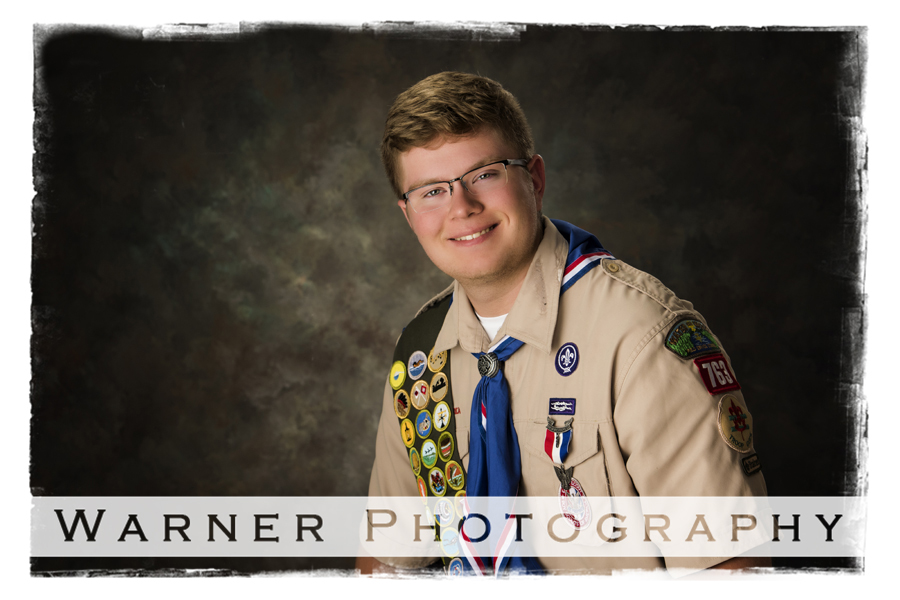Jacob Eagle Scout photo by Warner Photography in Midland Michigan