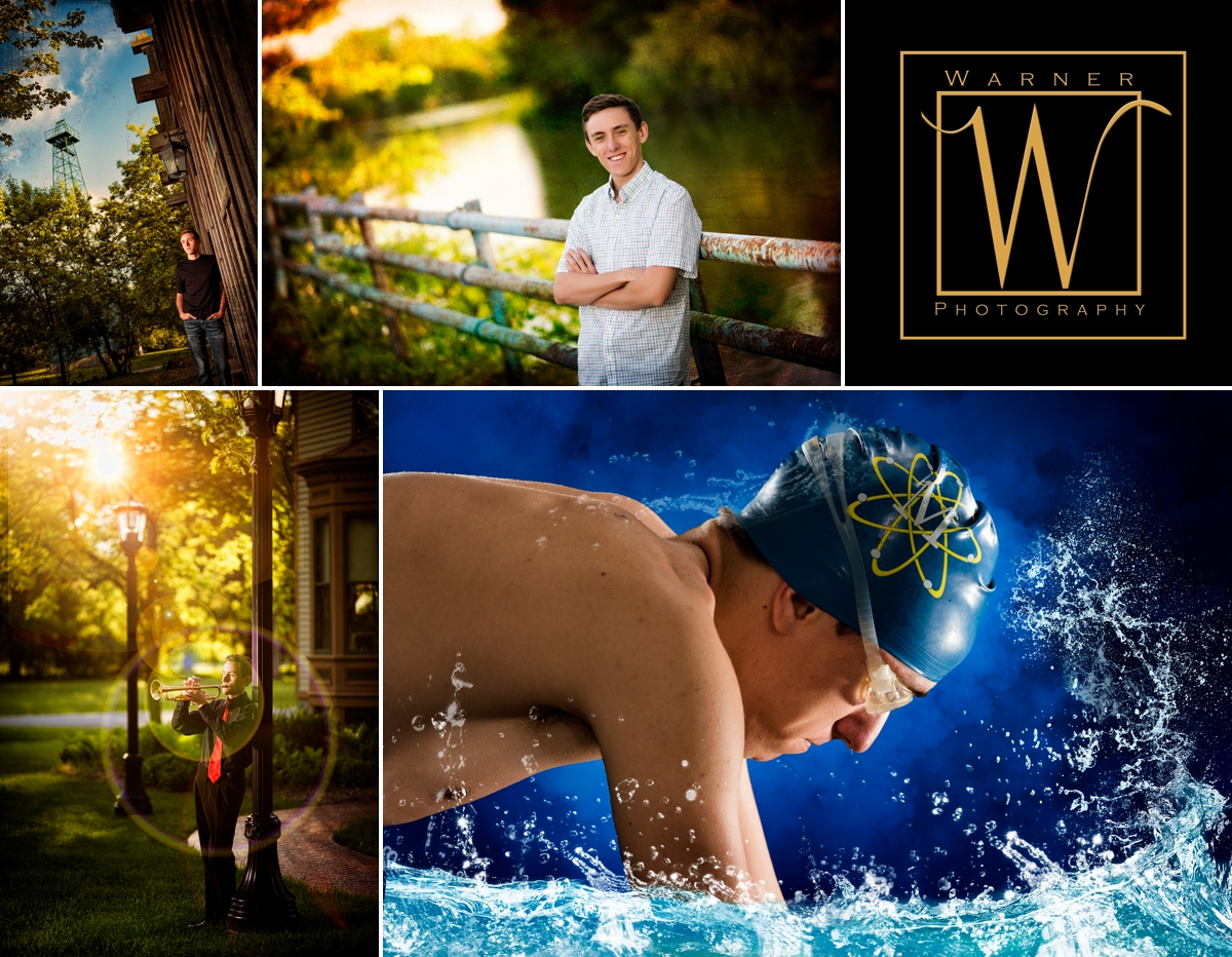 Owen Senior Collage photos by Warner Photography in Midland Michigan