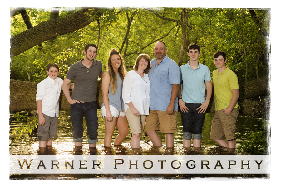 Davis Family photo by Warner Photography in Midland Michigan