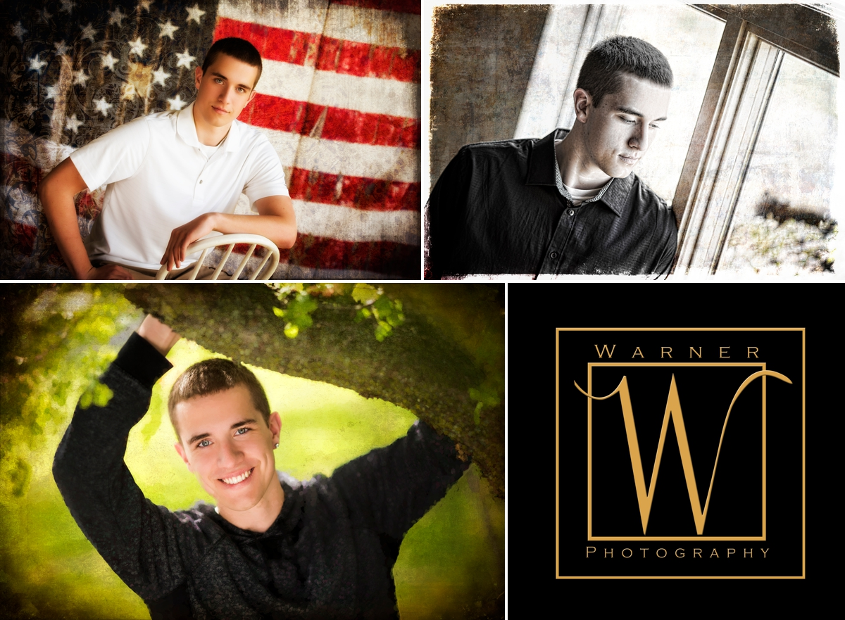 David Senior Collage photo by Warner Photography in Midland Michgan