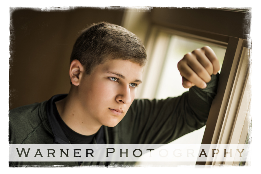 Tanner 2018 senior photo by Warner Photography in Midland Michigan
