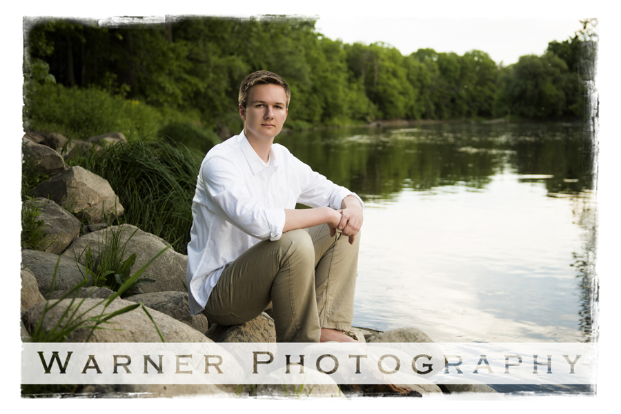 Eric 2018 Senior photo by Warner Photography in Midland Michigan
