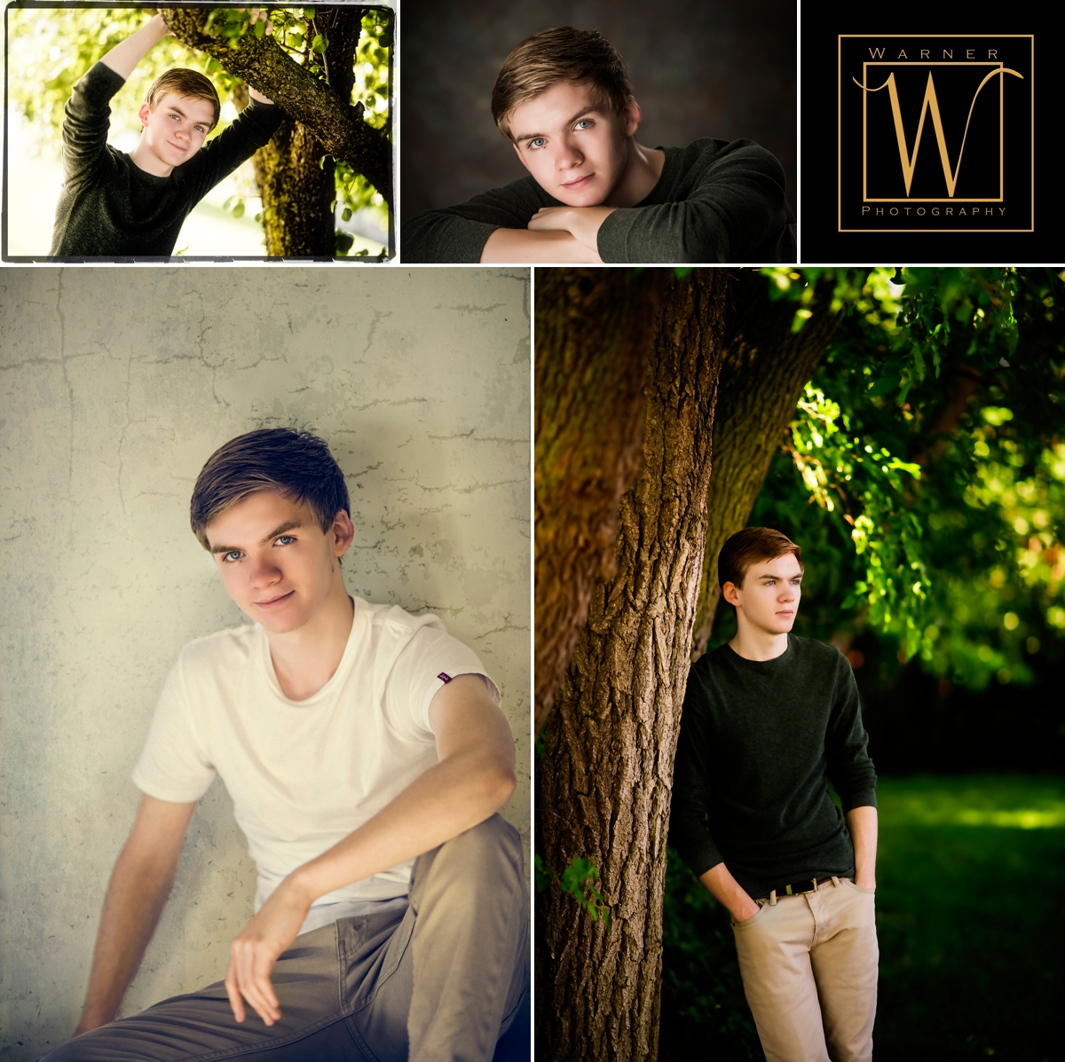 Adam Senior Collage photos by Warner Photography in Midland Michigan