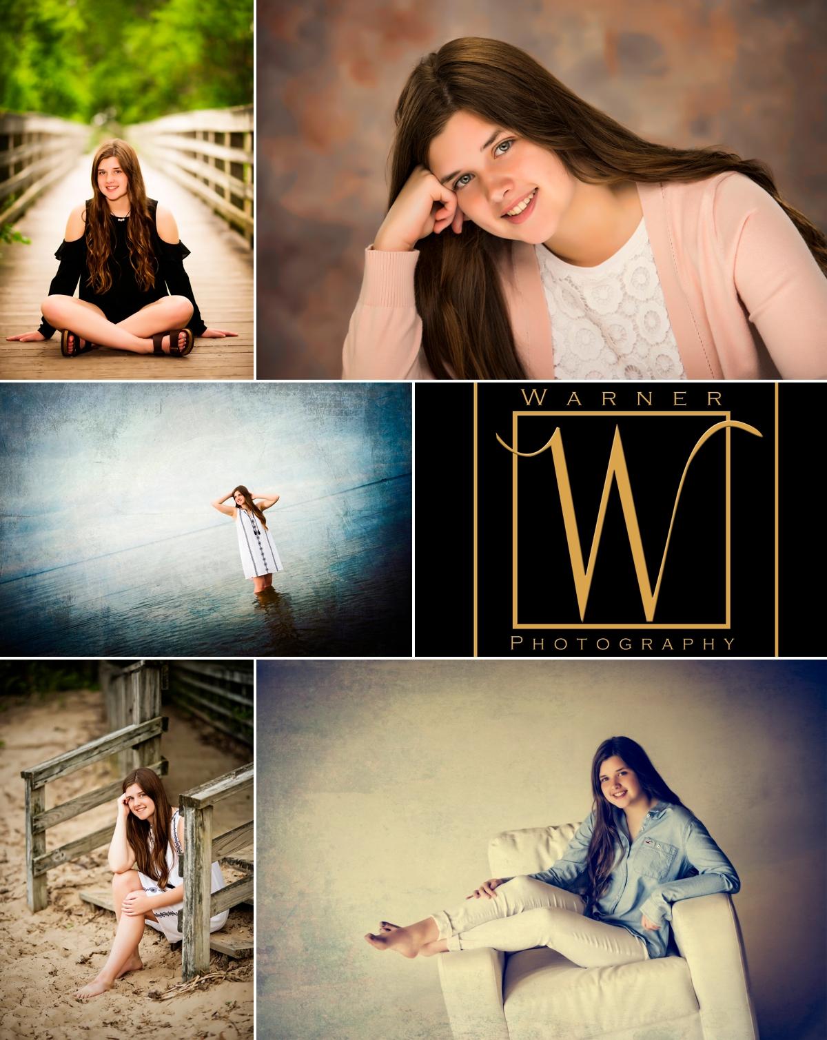 Sarah Senior Collage photos by Warner Photography in Midland Michigan