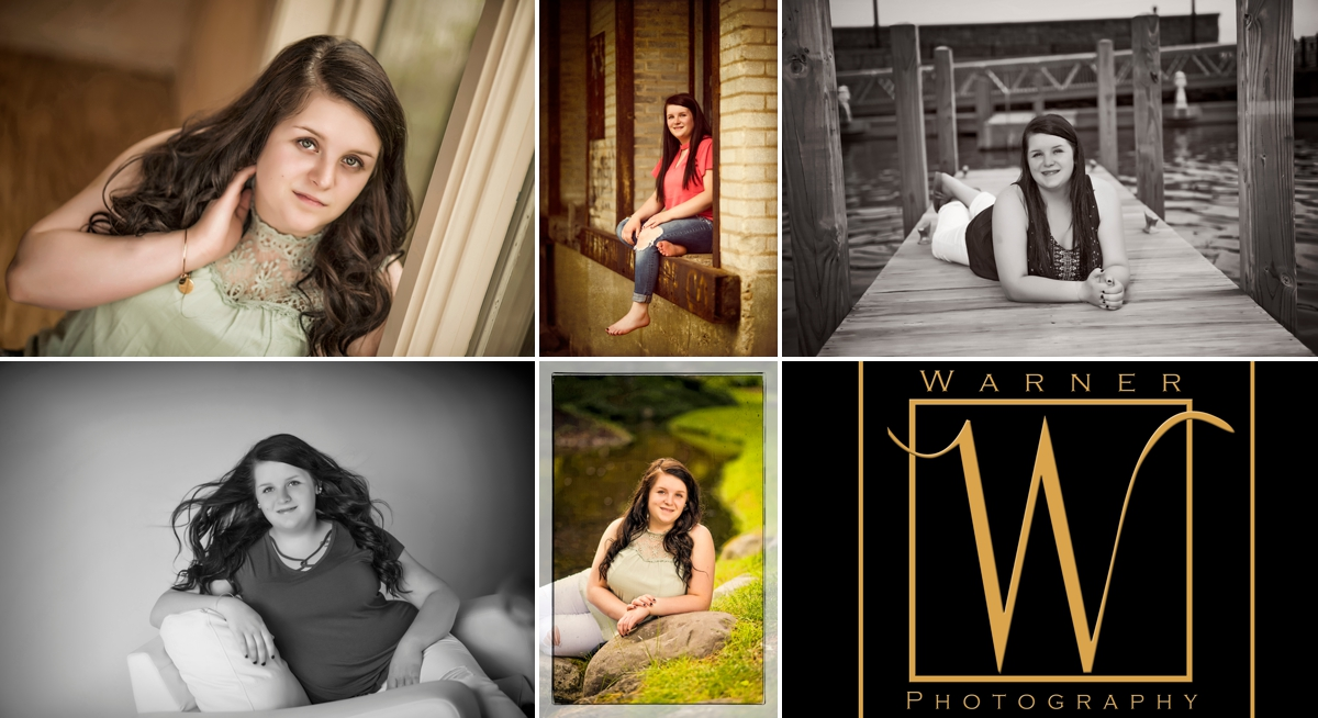 Haily Senior Collage photos by Warner Photography in Midland Michigan