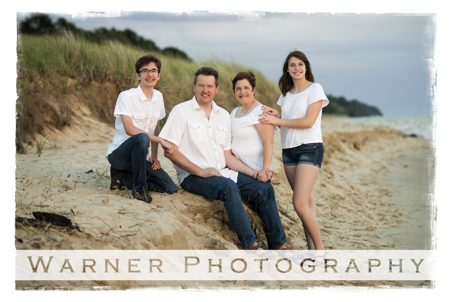 Dotson Family photo by Warner Photography in Midland Michigan