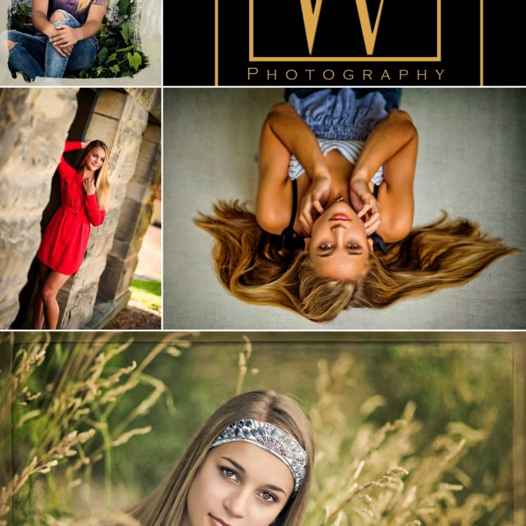 Peyton Senior Collage photos by Warner Photography in Midland Michigan