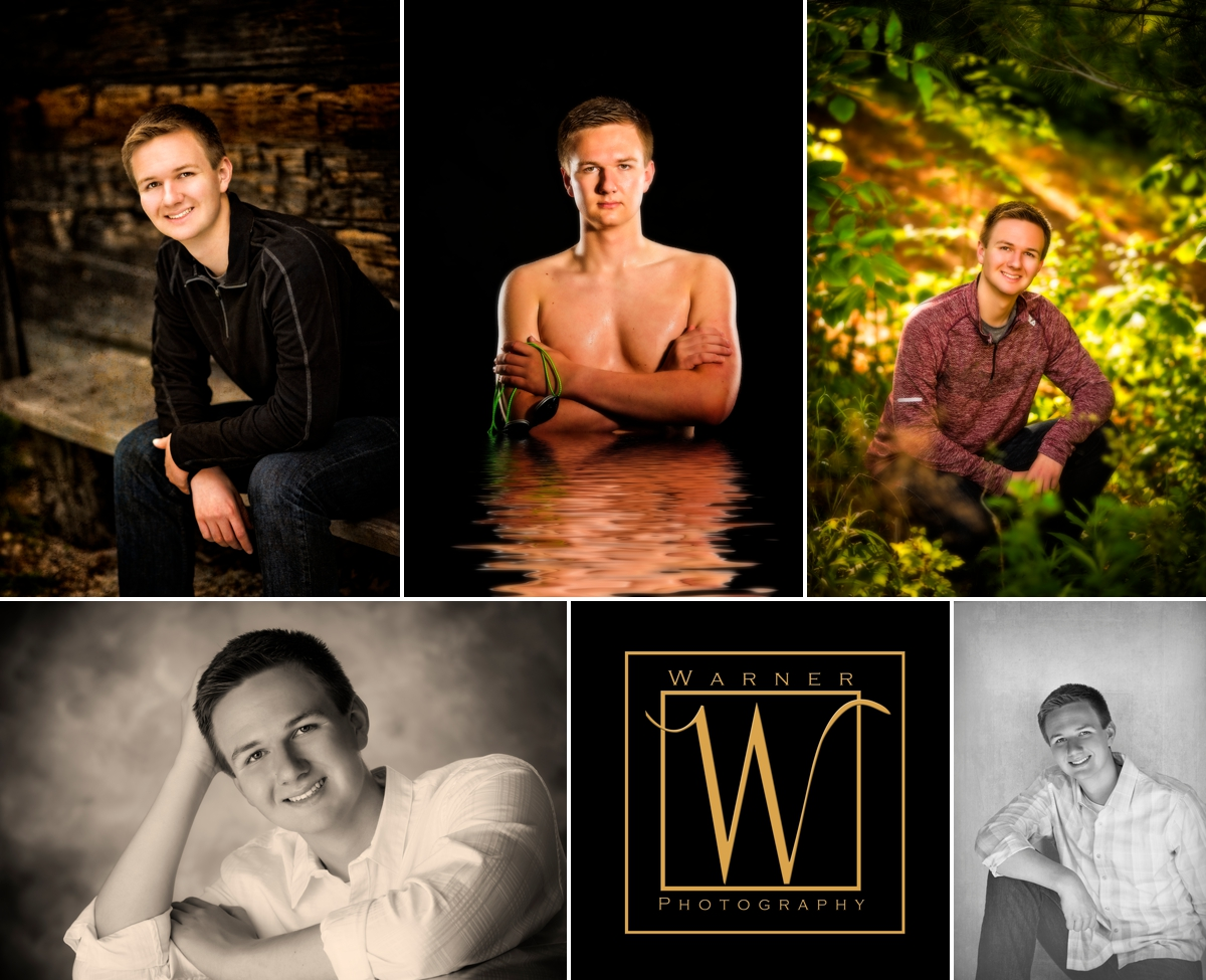 Eric Senior Collage photos by Warner Photography in Midland Michigan