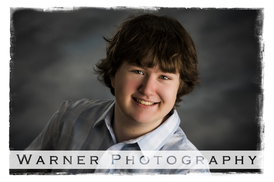 Jacob Senior photo by Warner Photography in Midland Michigan