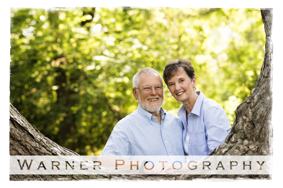Judy and Elson Anniversary photo by Warner Photography in Midland Michigan