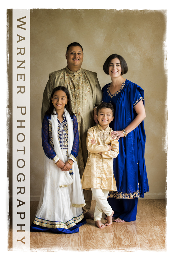 Ghose Family photo by Warner Photography in Midland Michigan