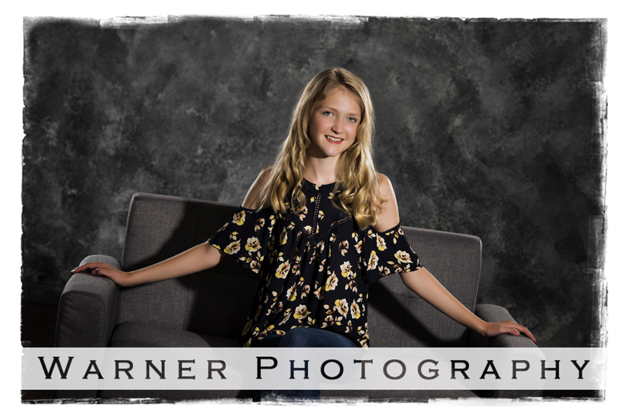 Madeline Back to School photo by Warner Photography in Midland Michigan