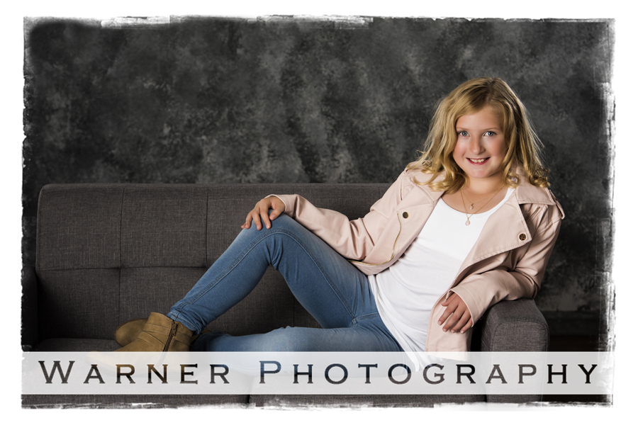 Monica Back to School photo by Warner Photography in Midland Michigan
