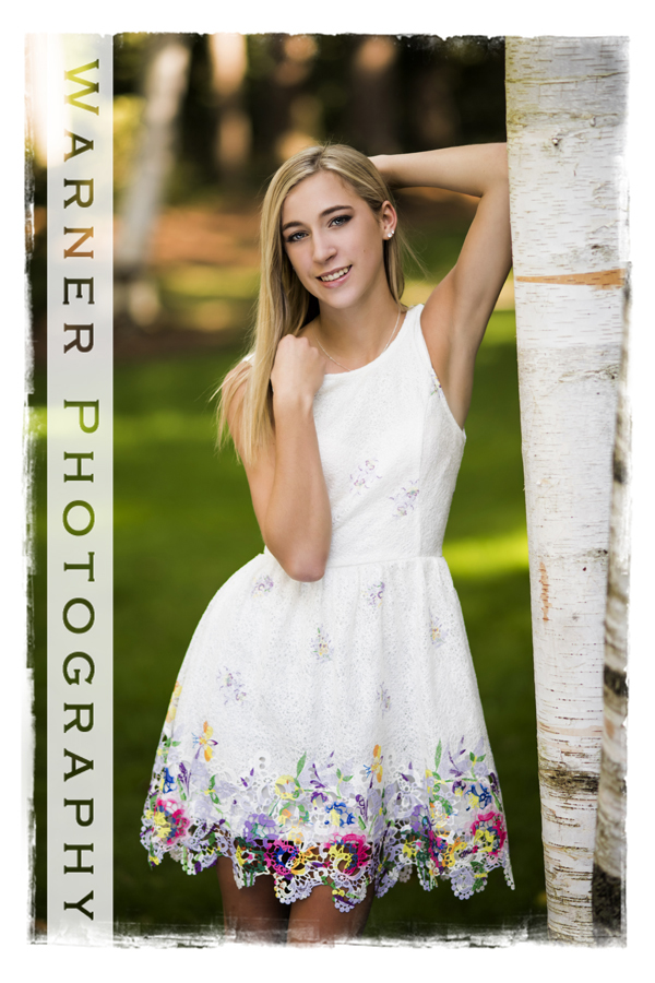 Haley Senior photo by Warner Photography in Midland Michigan