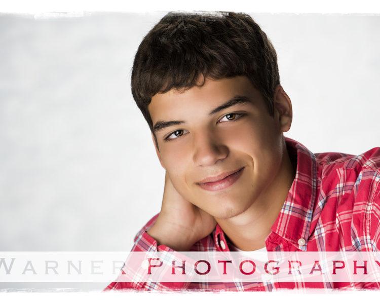 Ethan Senior photo by Warner Photography in Midland Michigan