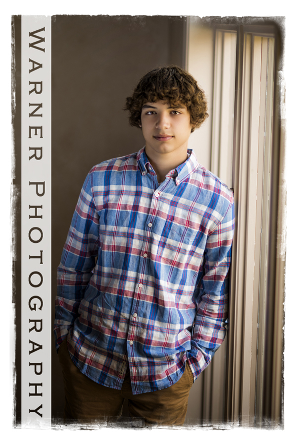 Hunter Senior photo by Warner Photography in Midland Michigan