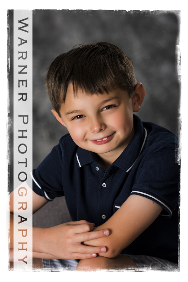 Ian Back to School photo by Warner Photography in Midland Michigan
