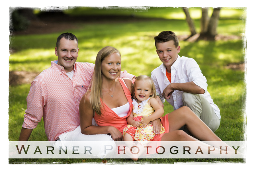 Peeler Family photo by Warner Photography in Midland Michigan