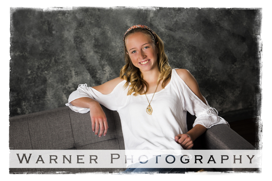 Lauren Back to School photo by Warner Photography in Midland Michigan