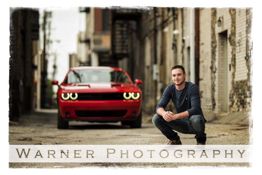 Justin Senior photo by Warner Photography in Midland Michigan