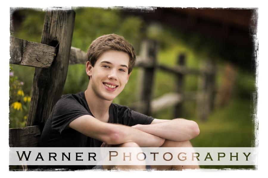 Zane Senior photo by Warner Photography in Midland Michigan