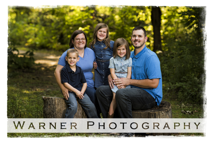 Colvin Family photo by Warner Photography in Midland Michigan
