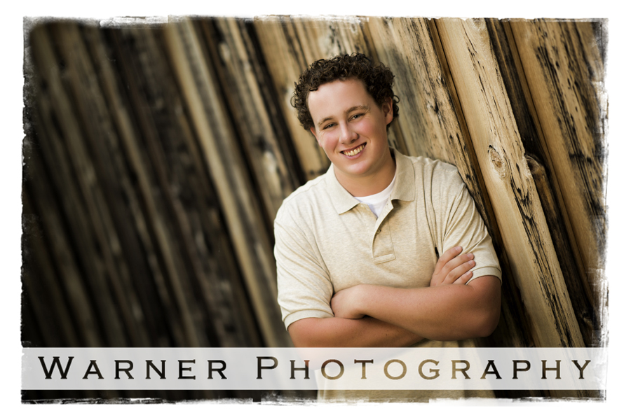Liam Senior photo by Warner Photography in Midland Michigan