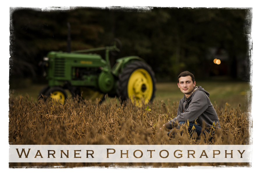 Brandon Senior photo by Warner Photography in Midland Michigan