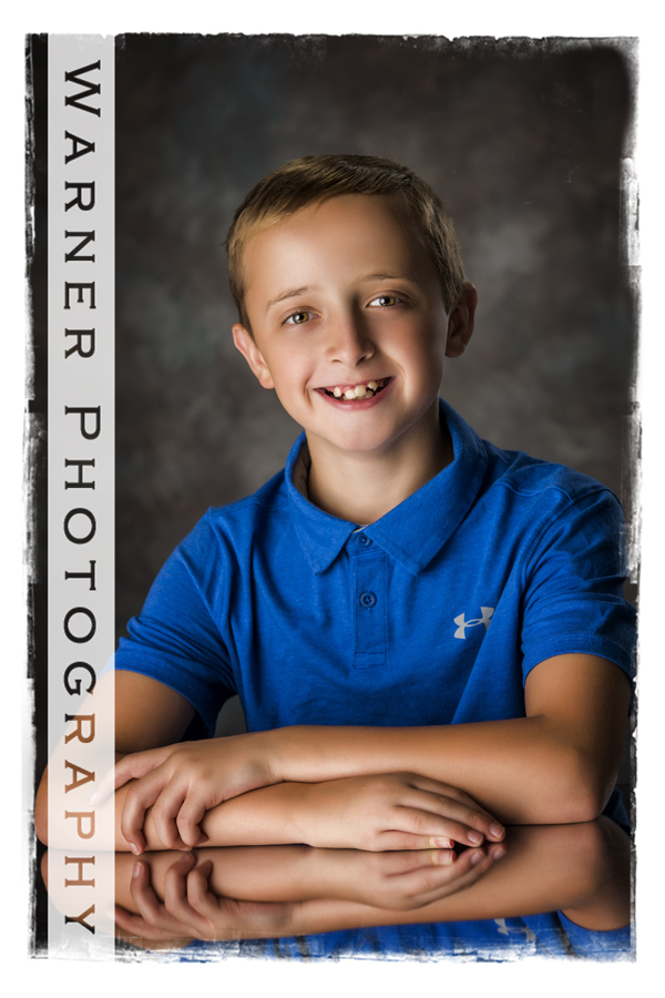 Andy Back to School photo by Warner Photography in Midland Michigan
