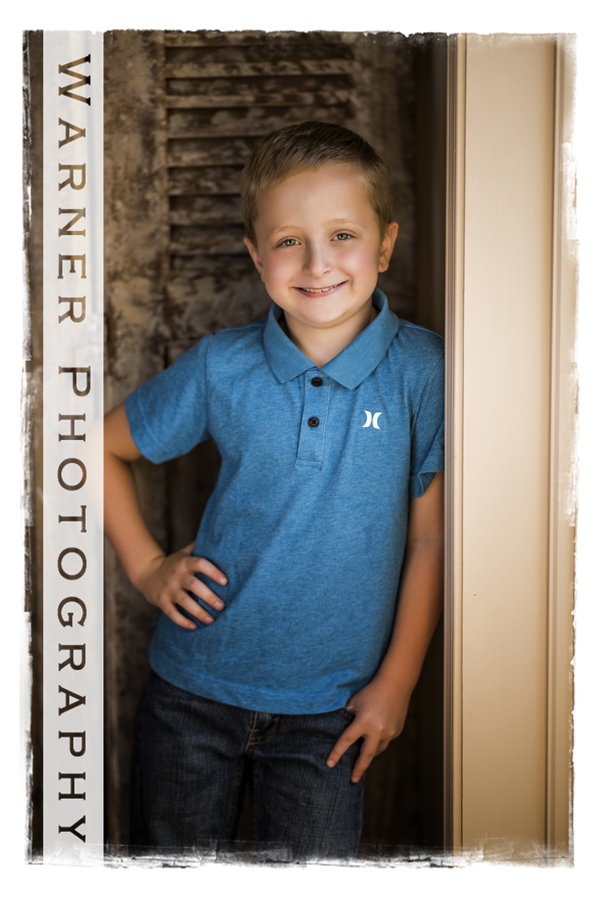 Collin Back to SChool photo by Warner Photography in Midland Michigan