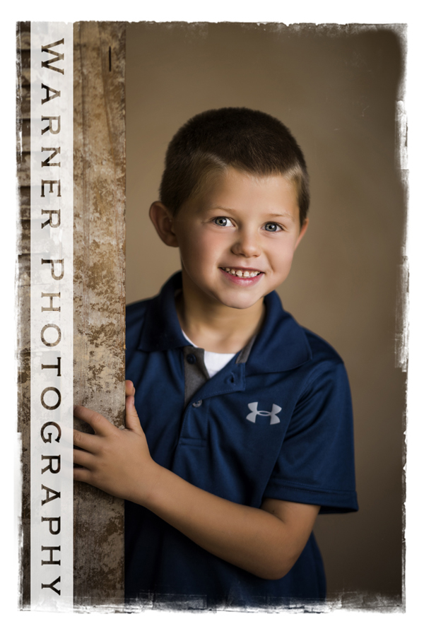 Ben Back to School photo by Warner Photography in Midland Michigan