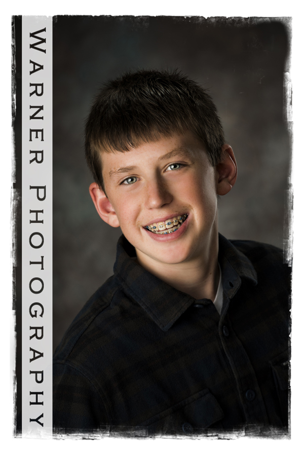Brendan Back to School photo by Warner Photography in Midland Michigan