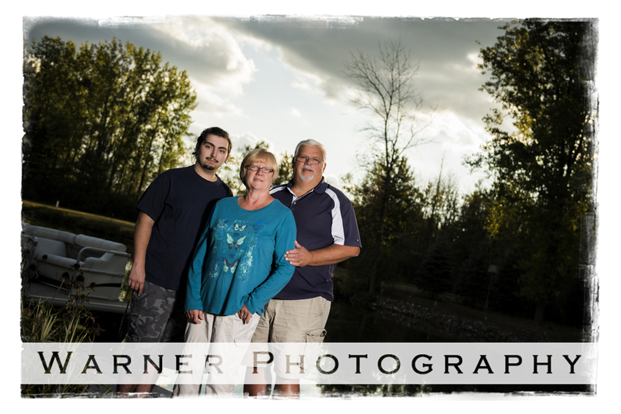 Blaine Family photo by Warner Photography in Midland Michgian