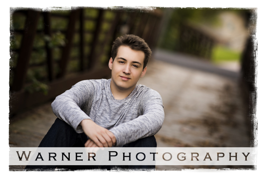Connor senior photo by Warner Photography in Midland Michigan