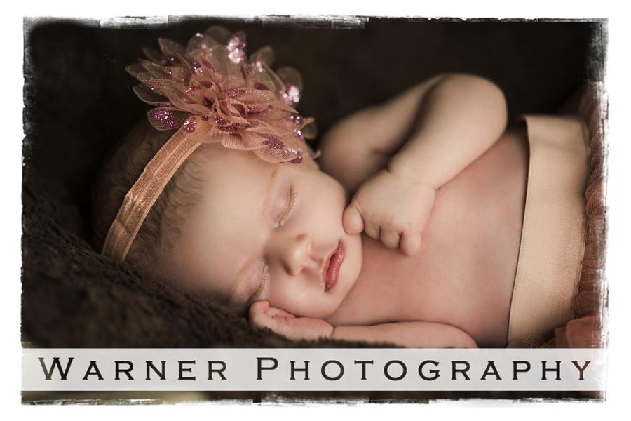 Adelynn Newborn photo by Warner Photography in Midland Michigan