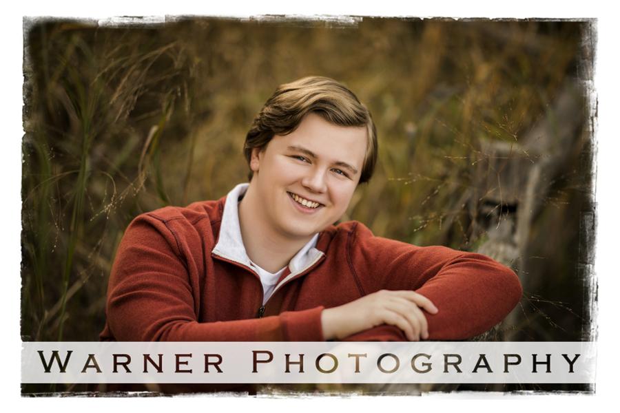 Gaven Senior photo by Warner Photography in Midland Michigan