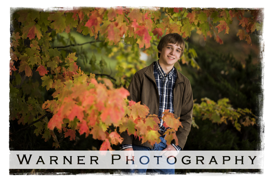 Bryce Senior photo by Warner Photography in Midland Michigan
