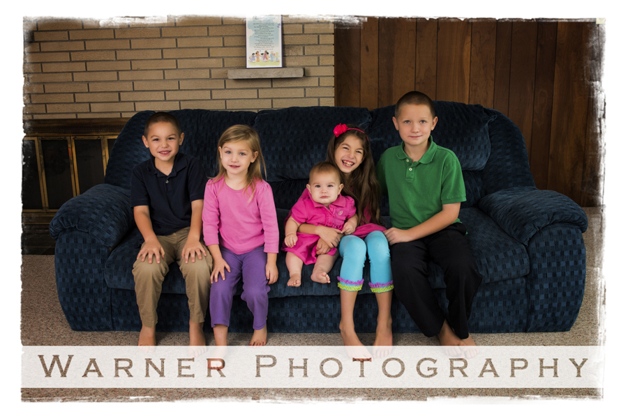 LaFramboise family photo by Warner Photography in Midland Michigan