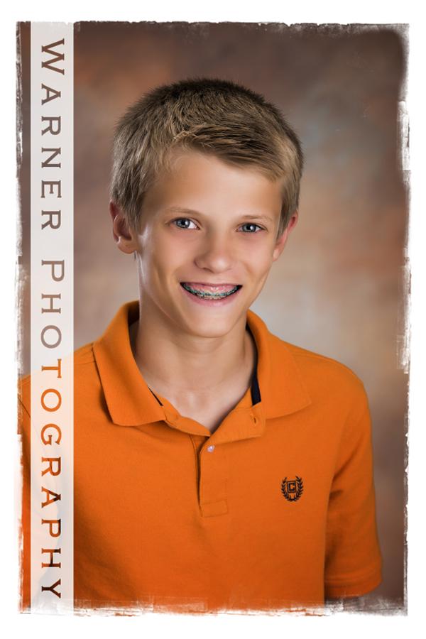 Ian Back to School photo by Warner Photography in Midland Michigan