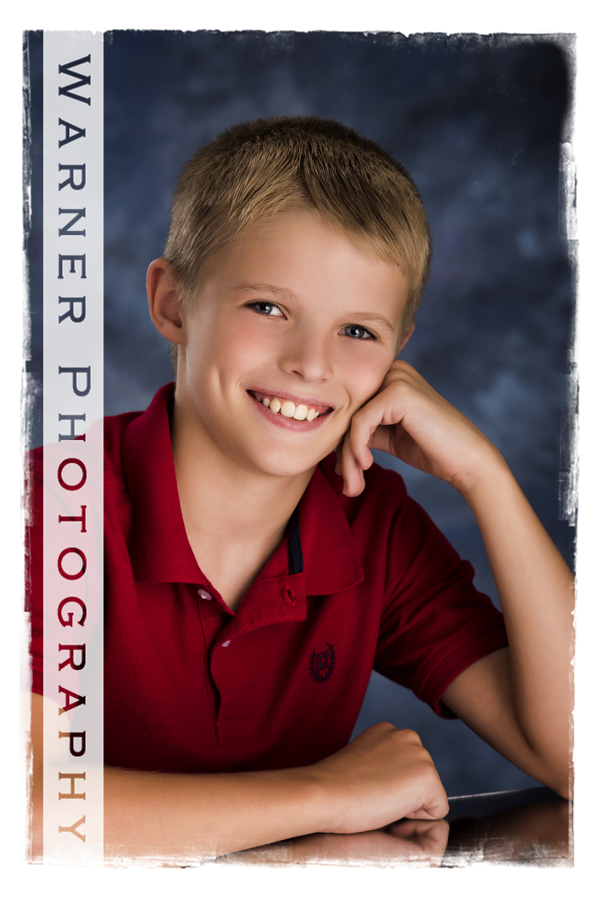 Caden Back to School photo by Warner Photography in Midland Michigan