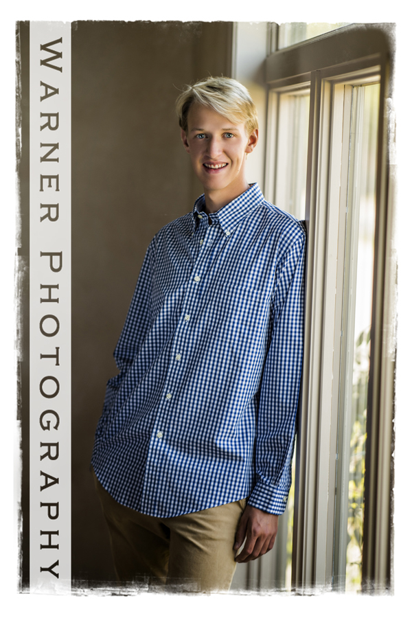 Noah Senior photo by Warner Photography in Midland Michgan