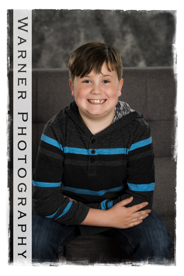 Noah Back to School photo by Warner Photography in Midland Michigan